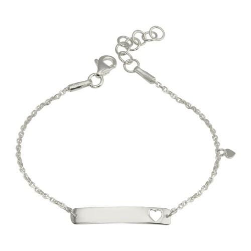 Heart Shape Baby ID Bar Bracelet