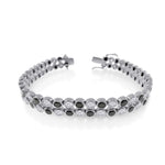 Men's 2 Row Diamond Bubble Bracelet