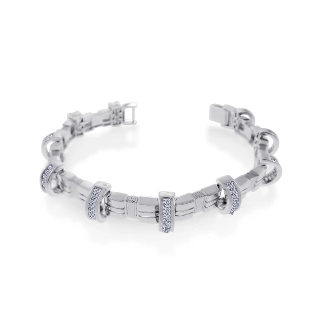Men's Diamond Encrusted Arc Bracelet