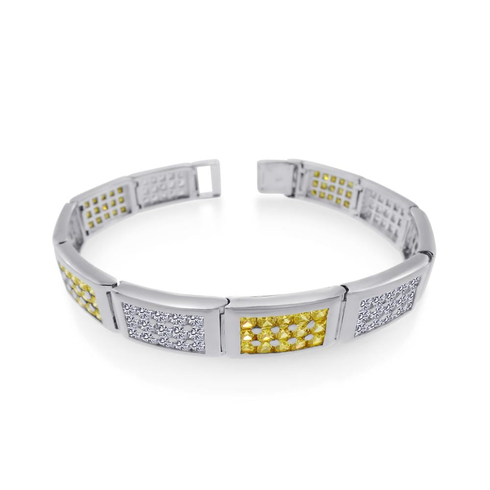 Men's Rectangle Bar Link Bracelet
