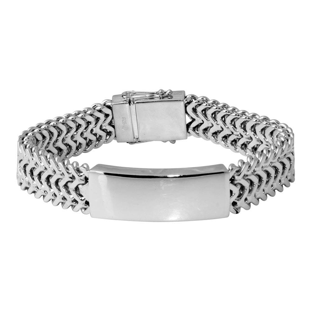 Men's Thick ZigZag ID Bracelet