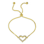 All Bracelet Open Heart Diamond Bolo Bracelet