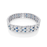 Sapphire and Diamond Domino Design Bracelet