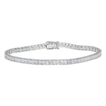"All Bracelet Sterling Silver 925 Rhodium Plated Clear CZ 8"" Tennis Bracelet"