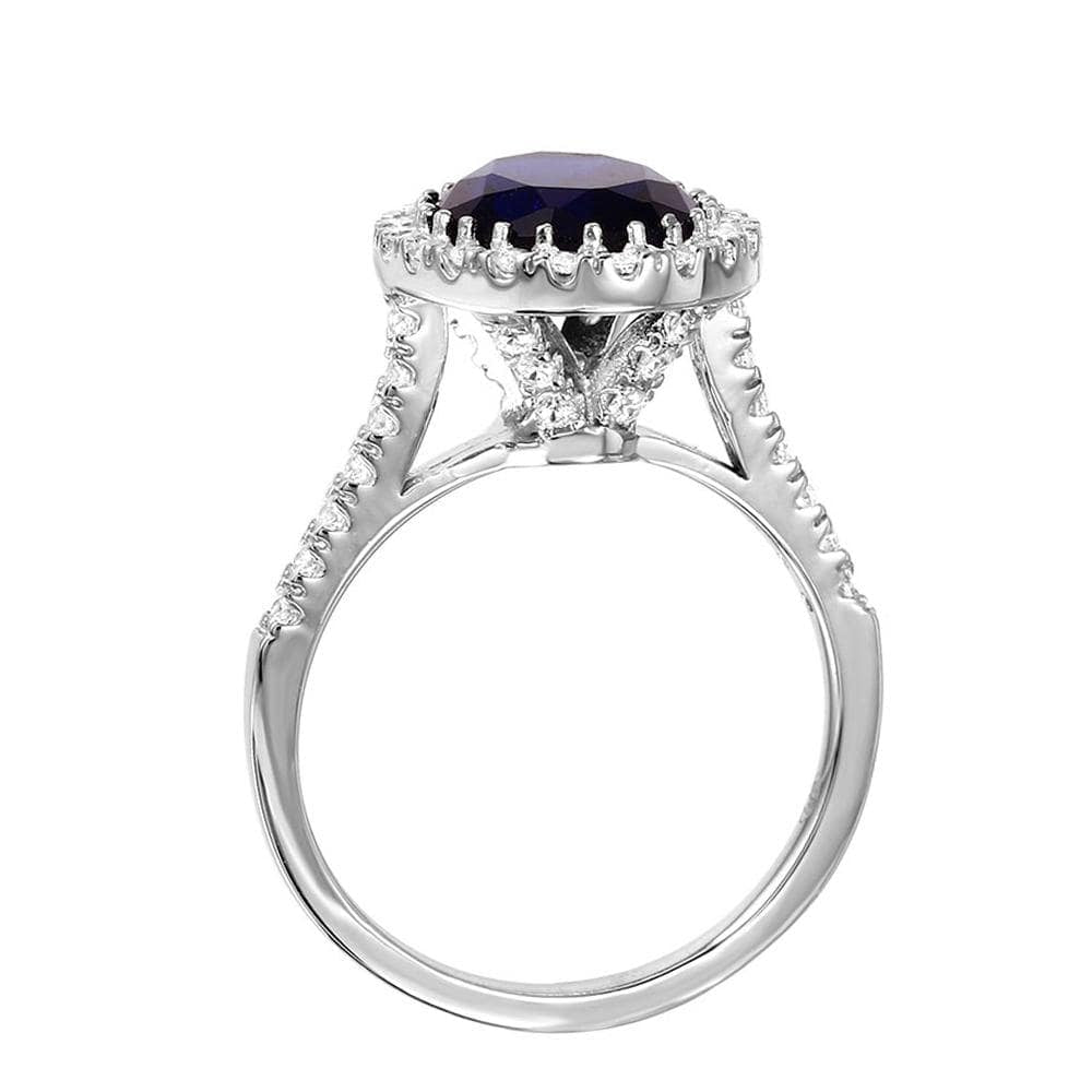 Halo Solitaire Engagement Rings