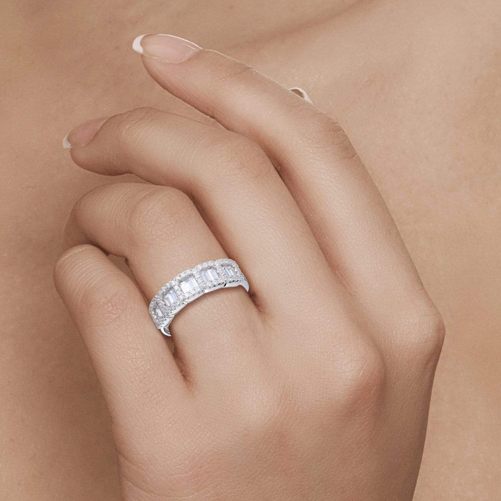 Half Eternity Baguette Band Ring