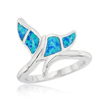 All Rings Blue Opal Whale Tail Ring Blue Opal Whale Tail Ring Sterling Silver