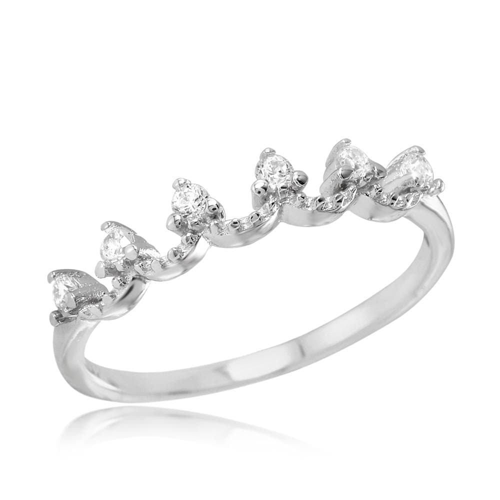 Crown Wedding Band Ring