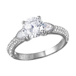 Diamond Solitaire Ring with Micro Pave Shank