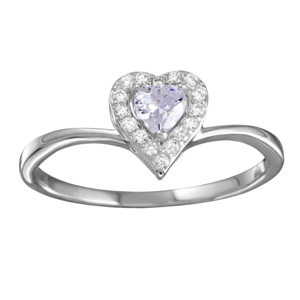 All Rings Heart Shaped Diamond Promise Ring