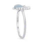 All Rings Larimar Crab Ring Larimar Crab Ring Sterling Silver