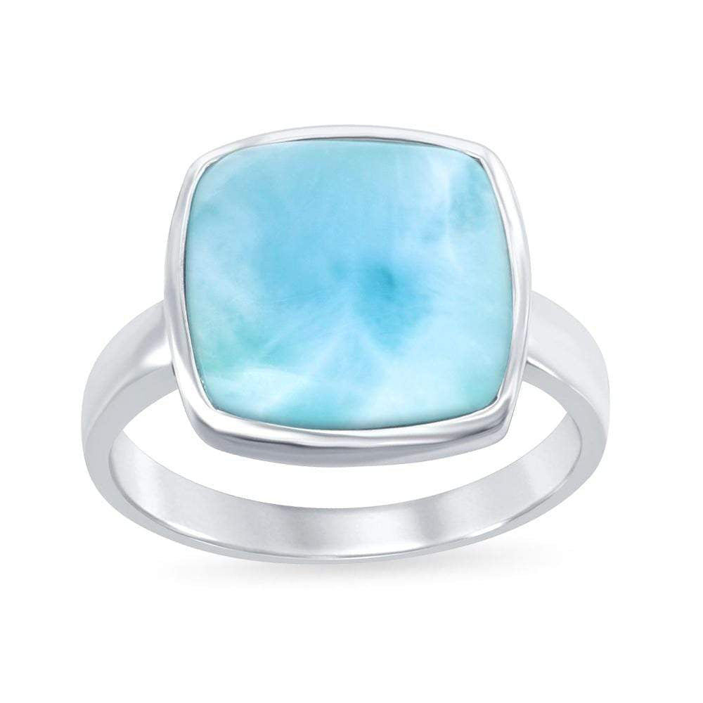 All Rings Larimar Square Ring Larimar Square Ring Sterling Silver