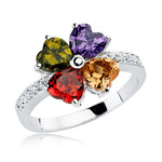 Multi Colored Gemstone Flower Ring