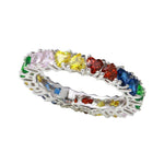 All Rings Multi-Colored Heart Stone Ring