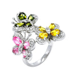Multi Colored Mini Butterfly Ring