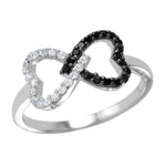 Open Twin Heart Ring