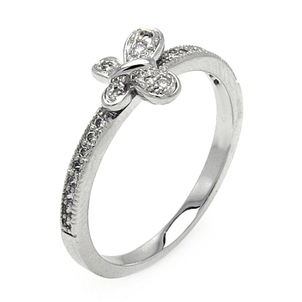All Rings Pave Set Diamond Butterfly Ring