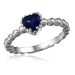 Sapphire Solitaire Heart Promise Ring