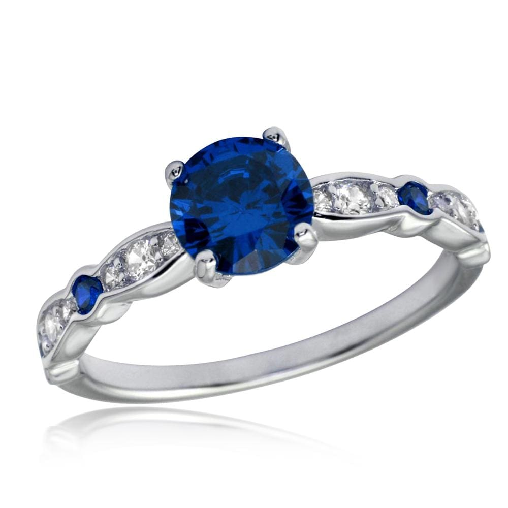 All Rings Sapphire Solitaire Stone Diamond Ring