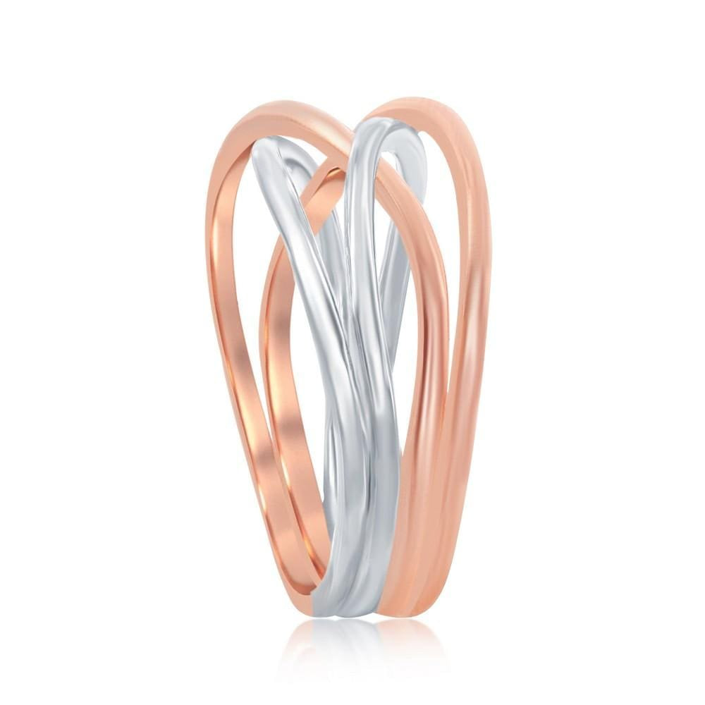 All Rings Two -Toned Interlocking Ring Two -Toned Interlocking Ring Sterling Silver