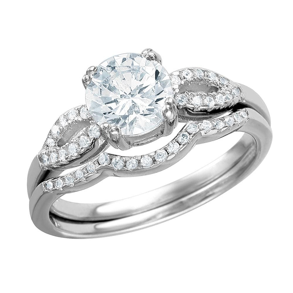 Split Shank Rings Bridal Set