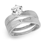 Solitaire Bridal Rings Set