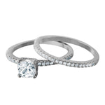 4 Claws Princess Cut Bridal Set
