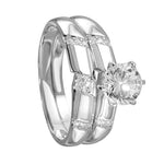 Double Stackable Bridal Rings