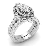 Bridal Ring Set Marquise Shape Vintage Engagement Ring Set For Her