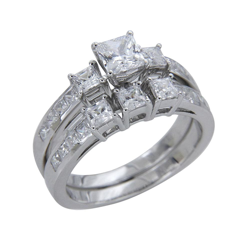Princess Cut Diamond Bridal Set