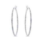 40mm Diamond-cut Round Hoop Earrings