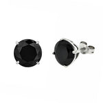 Earrings 6mm Black Diamond Stud Earrings
