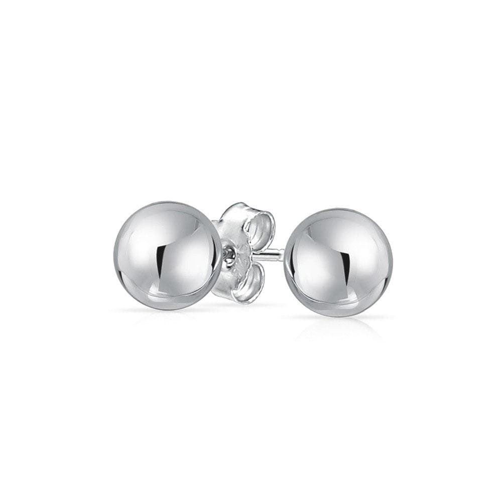 Earrings 925 Sterling Silver Bead Stud Earrings
