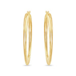 Bottom Flat Oval Hoop Earrings
