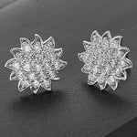 Earrings Diamond Cluster Flower Earrings