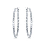 Diamond-cut 30mm Round Hoop Earrings