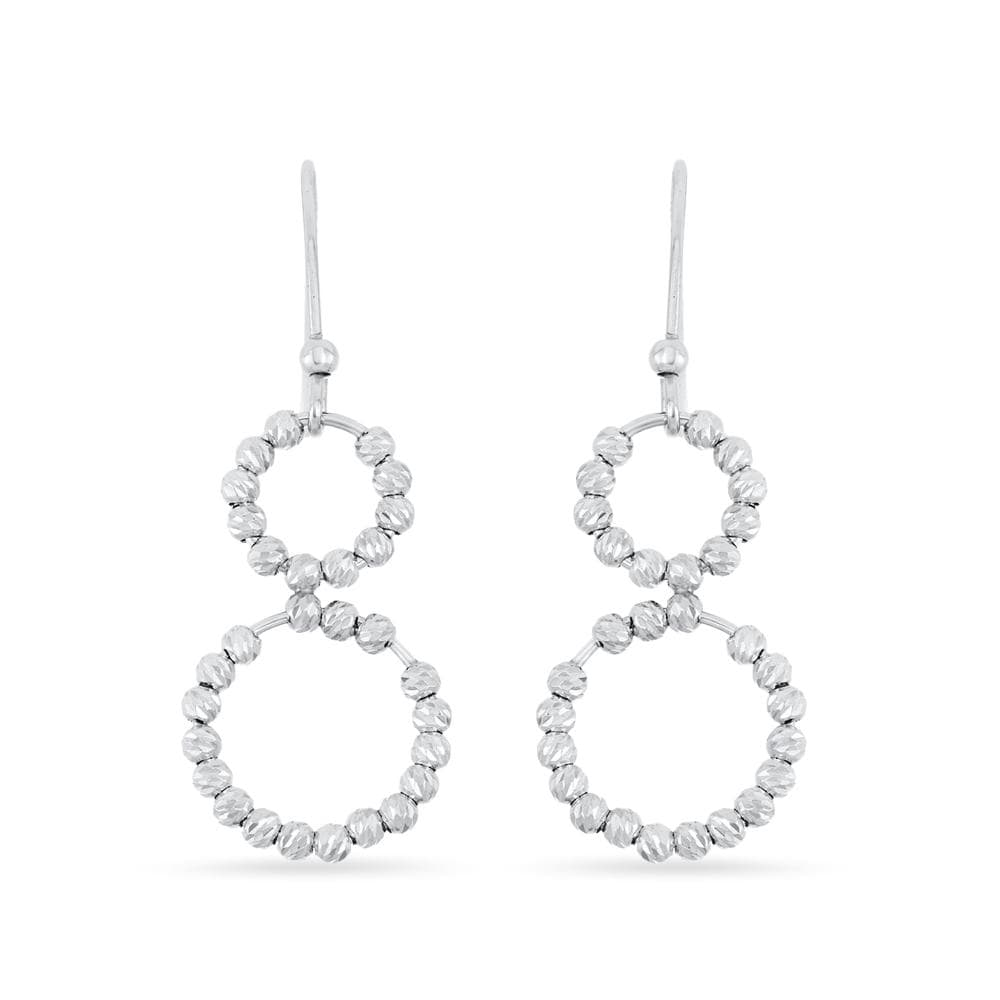 Double Open Circle with Beads Earrings