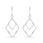 Double Open Square Earrings