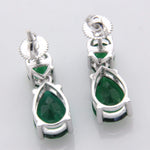 Earrings Green Emerald Tear Drop Earrings