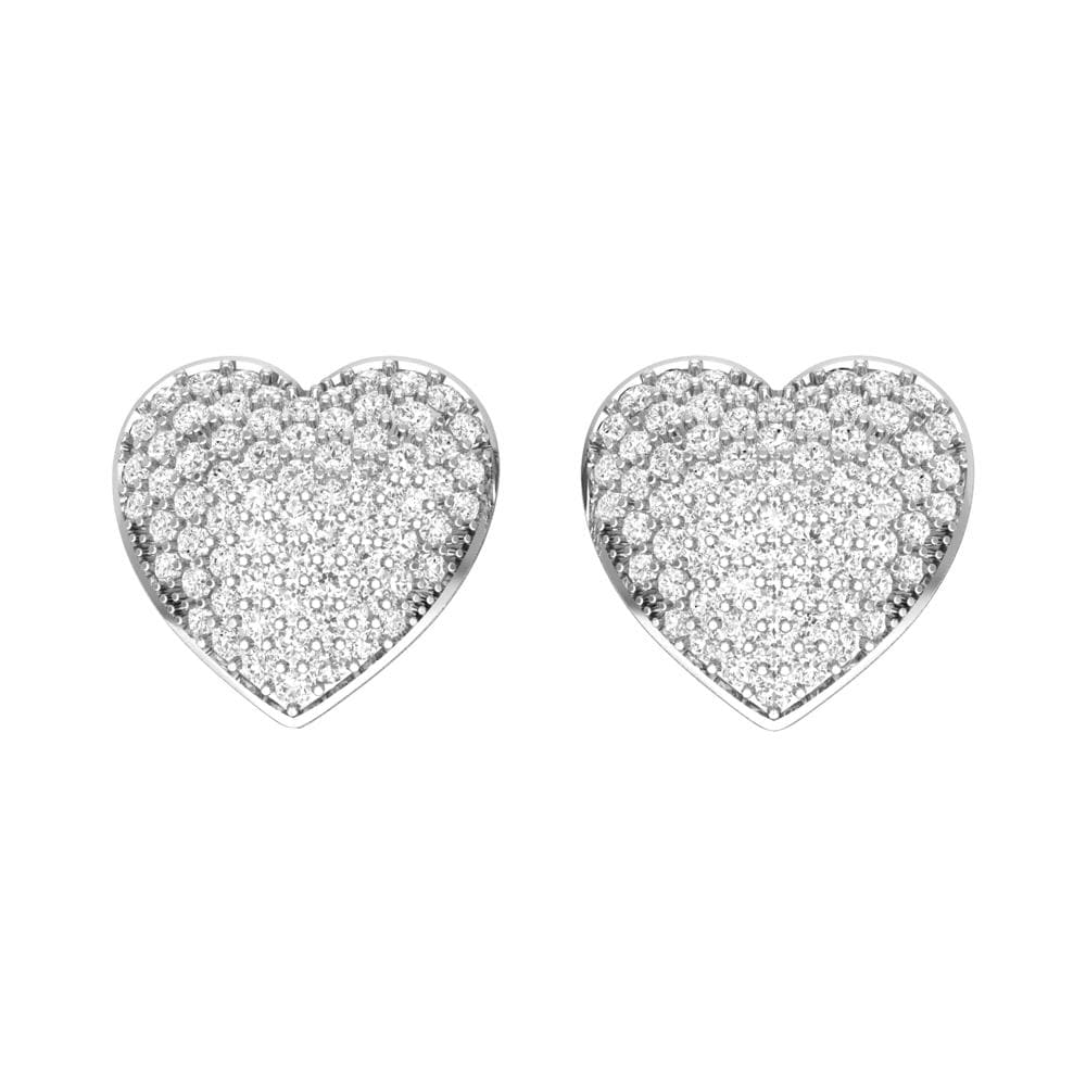 Heart Shape Cluster Stud Earrings