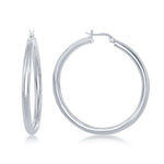 4x50mm High-Polished Hoop Earrings