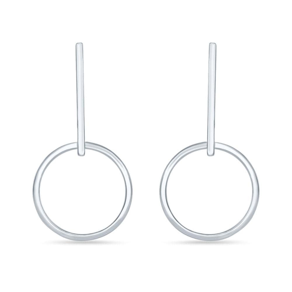Hoop Earrings With Long Bar