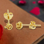 Earrings Mini Knot Stud Earrings 4.1mm