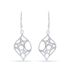 Open Marquise with Circles Design Earrings
