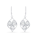 Open Marquise with Swirl Design Earrings