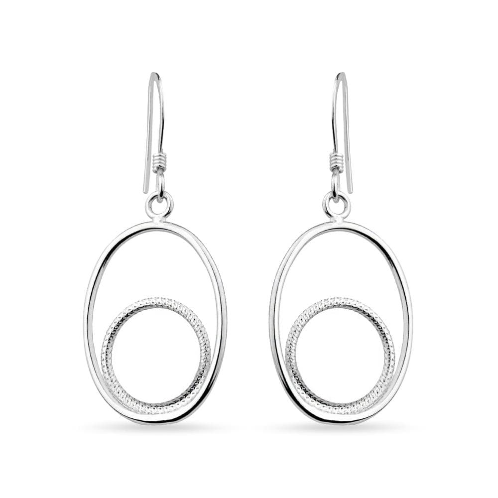 Oval Framing With Smaller Circle Earrings