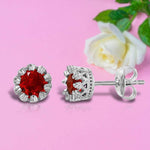 Earrings Ruby Solitaire Diamond Earring