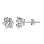 Star Stud Diamond Earrings