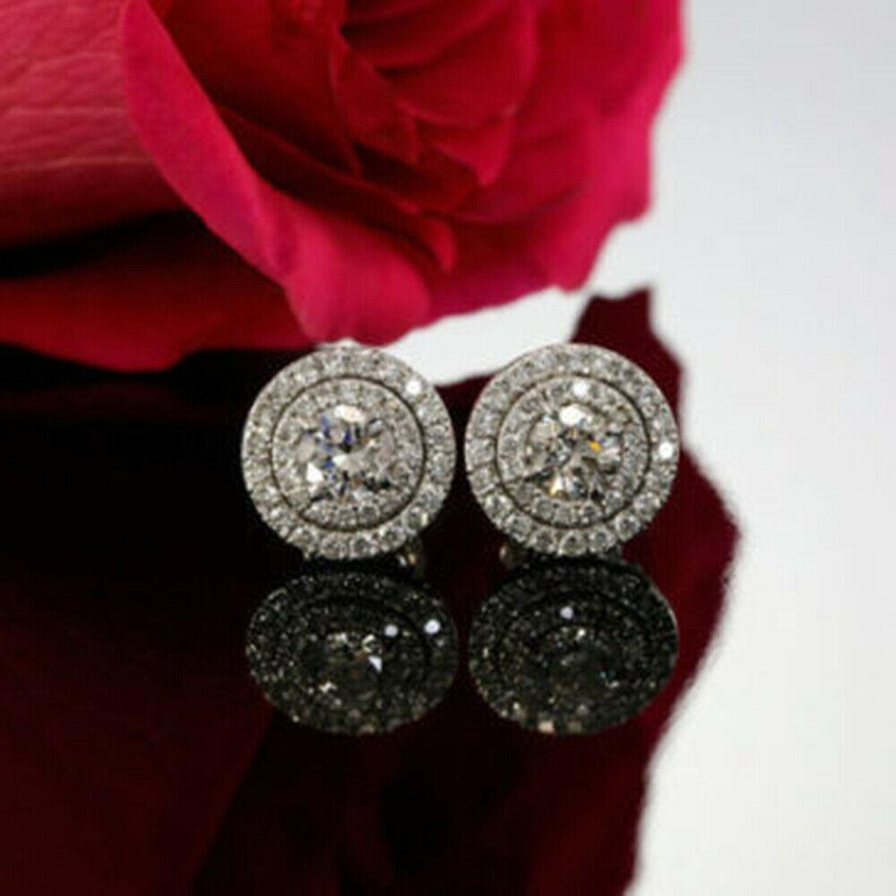 Earrings Vintage Double Halo Stud Earrings
