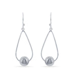 Wire Teardrop with Bead Earrings
